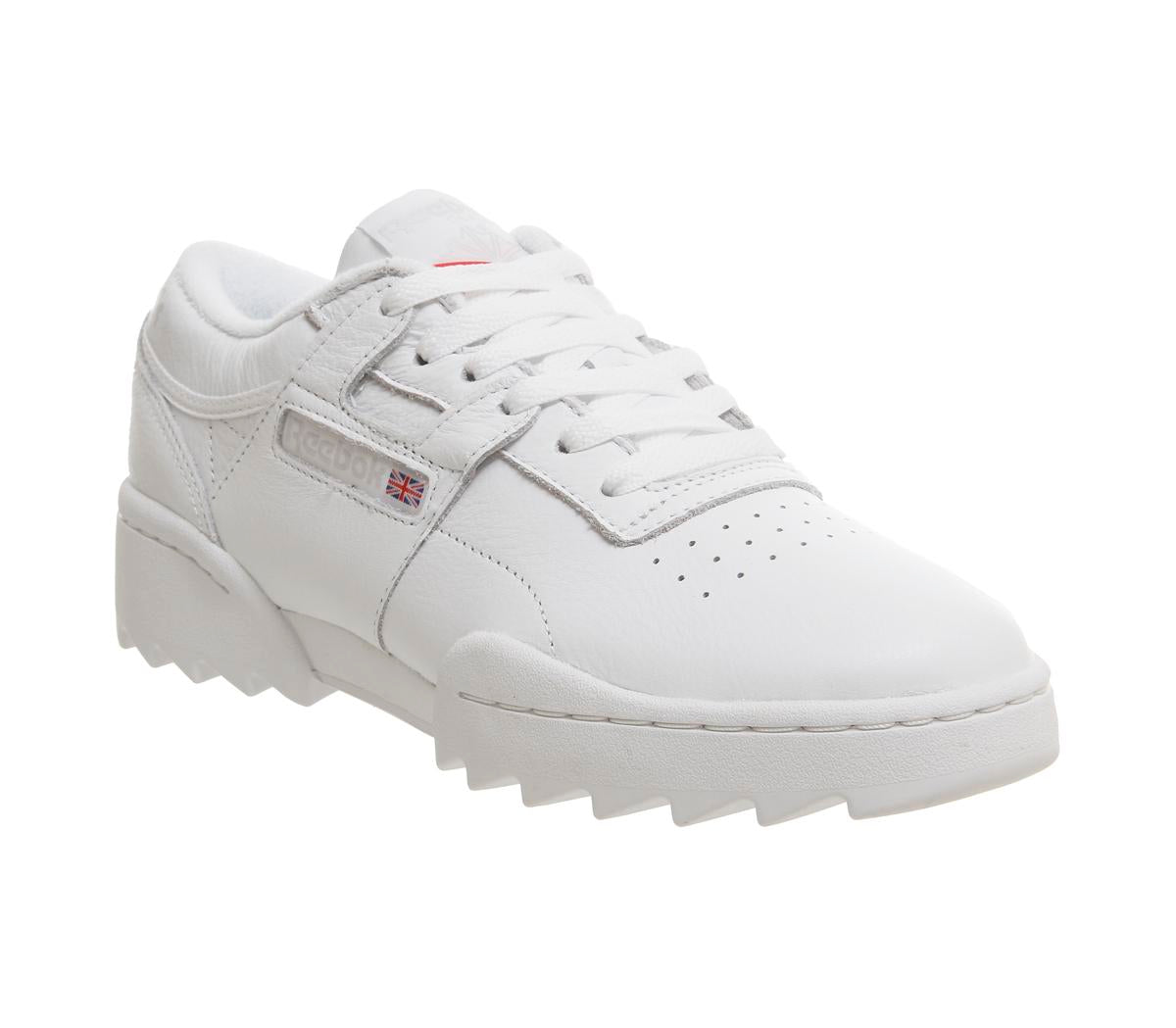 Womens Reebok Workout Ripple White Steel Excellent Red