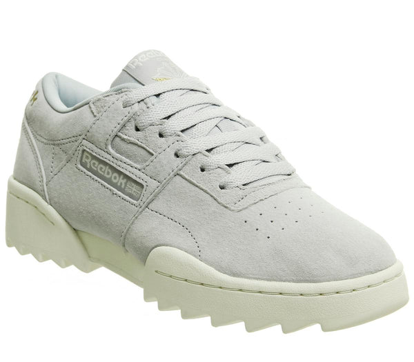 Mens Reebok Workout Ripple Cold Grey Chalk