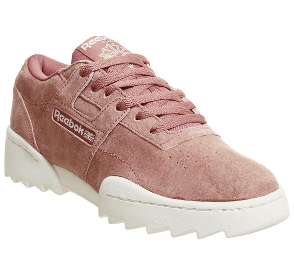 Womens Reebok Workout Ripple Baked Clay Chalk Uk Size 4