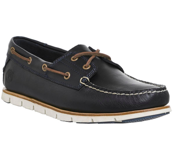 Mens Timberland Tidelands 2 Eye Boat Shoe Navy Leather