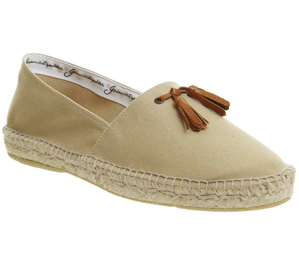 Mens Office Felice Tassel Espadrille Beige Canvas Uk Size 10