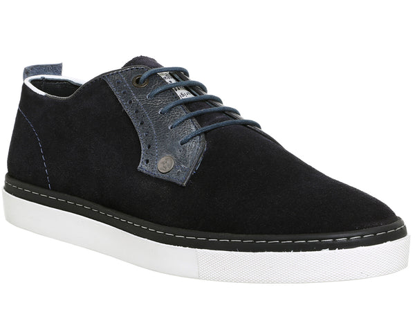 Mens Office Hounds Lace Up Navy Suede