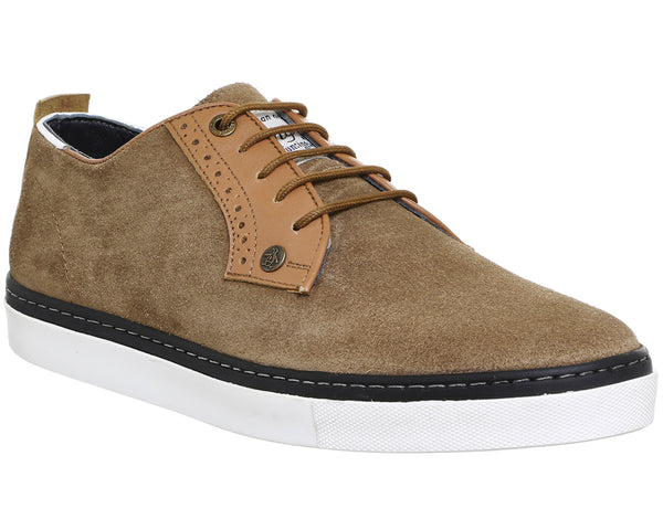Mens Office Hounds Lace Up Tan Suede