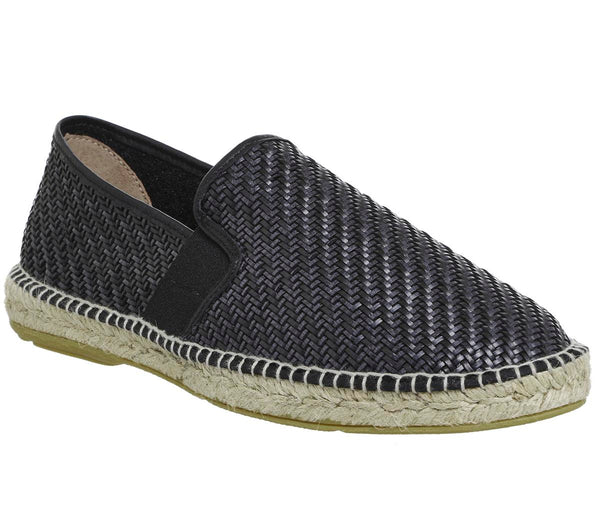 Mens Office Felice Espadrille Black Woven Uk Size 10