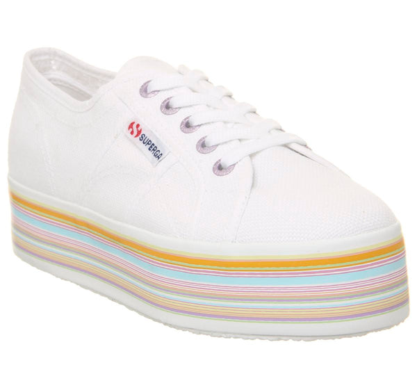 Womens Superga 2790 White Multicolour Uk Size 6.5