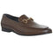 Mens Ask The Missus Genuine Snaffle Loafer Brown Leather