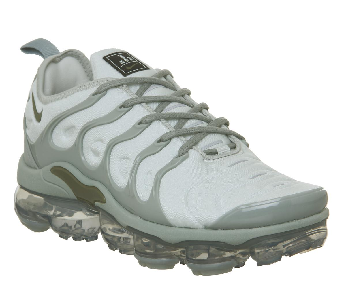 timeless design bf3f0 67904 Womens Nike Air Vapormax Plus Medium Olive Mica Green Reflective Silver Uk  Size 7