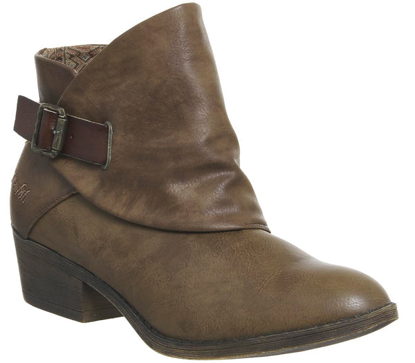 Womens Blowfish Sill Ankle Boot Whisky Lonestar