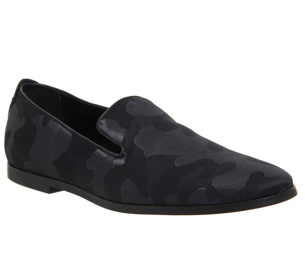 Mens Ask The Missus Grazie Loafer Black Camo