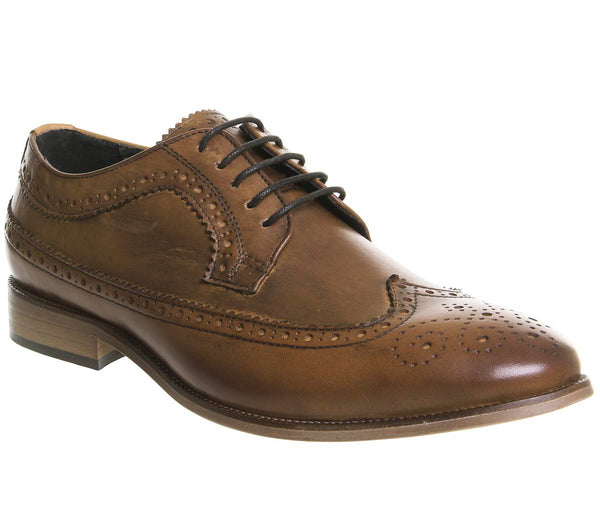 Mens Ask The Missus Guvnor Brogue Tan Leather