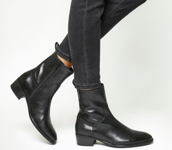 Womens Vagabond Meja High Cut Boot Black Leather Uk Size 8