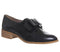 Womens Office Flexa Slip On With Bow Black Groucho Leather