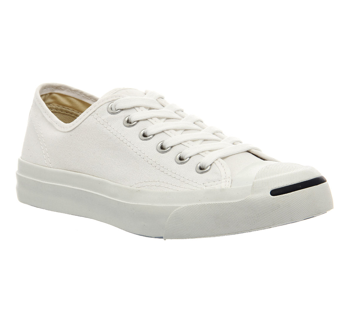 82cfbdb63264 Unisex Converse Jack Purcell LTT White Cream Canvas Trainers ...