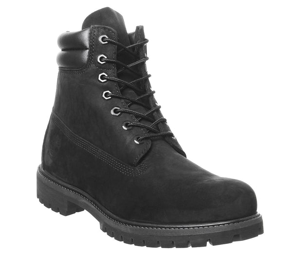 Mens Timberland 6 Inch Double Collar Black Nubuck