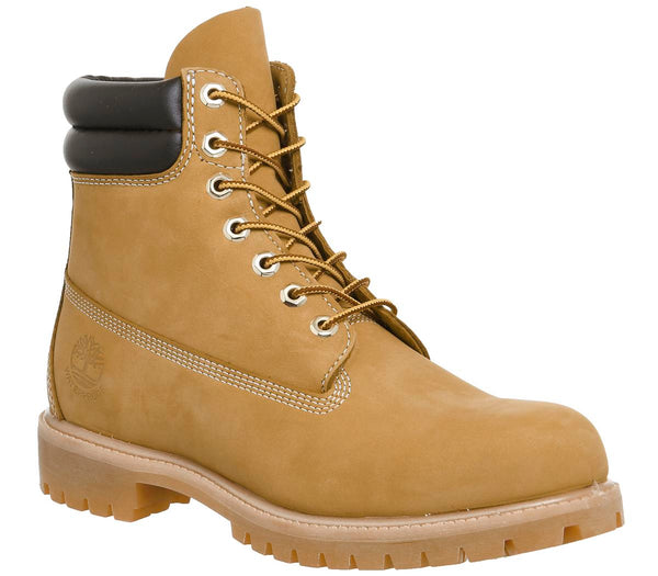 Odd sizes - Mens Timberland 6 Inch Double Collar Wheat Nubuck Sizes R9/L8.5