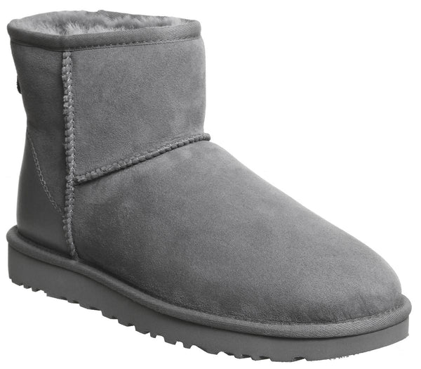 Womens Ugg Classic Mini Metallic Ii Grey Suede