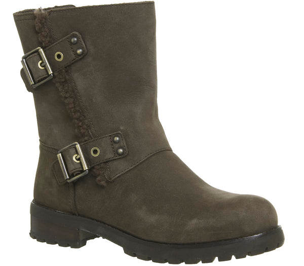Womens Ugg Neils Biker Stout Leather
