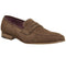 Mens Office Gelato Penny Loafer W/Weave Rust Suede