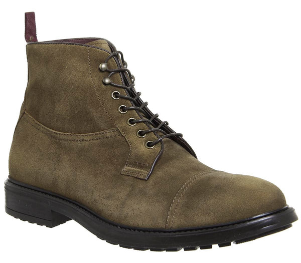 Mens Office Giotto Toecap Boot Tabacco Suede Uk Size 7
