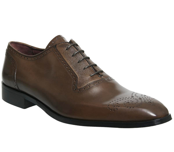 Mens Office Gentile Oxford Brogue Tan Leather