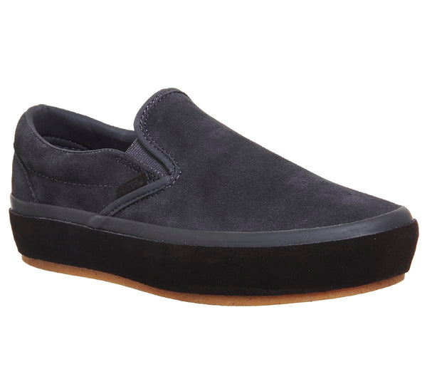 Womens Vans Classic Slip On Platform Asphalt Licorice