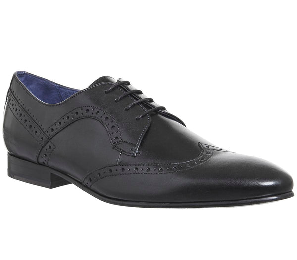 Mens Ted Baker Ollivur Brogue Black Leather Uk Size 9