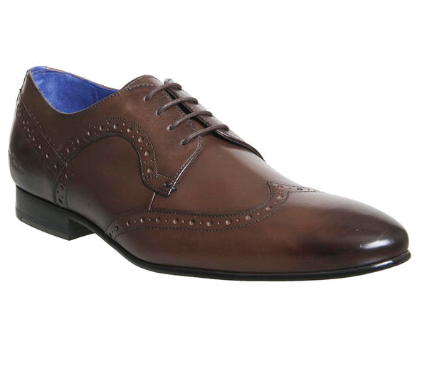 Mens Ted Baker Ollivur Brogue Brown Leather Uk Size 9