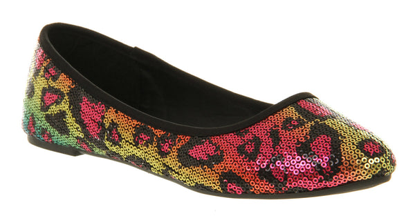 Womens Office Macaroon Pump Multi Sequin