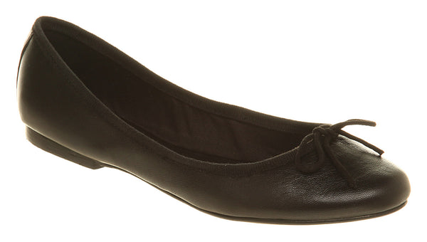 Womens Office Tutu Ballerina Black Leather