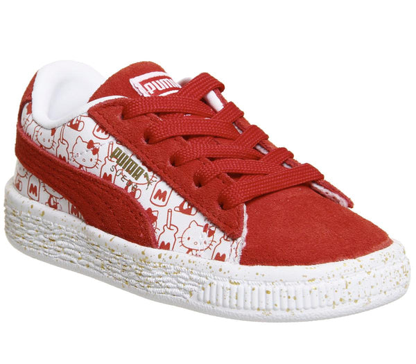 Kids Puma Suede Classic Infant Hello Kitty Red