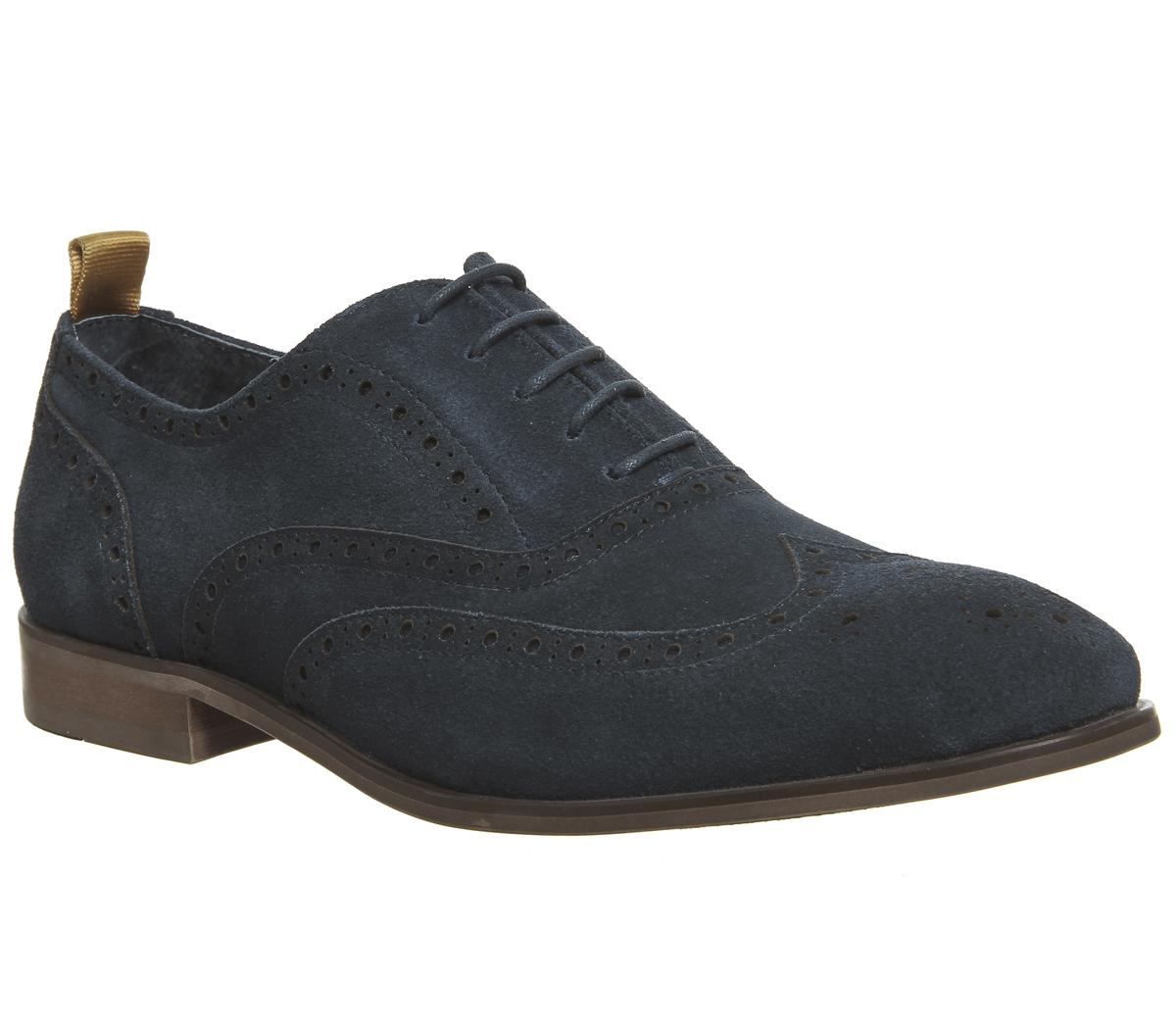 b1e660877cd1 Mens Office Flame Brogue Navy Uk Size 10 – OFFCUTS SHOES by OFFICE