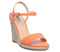 Womens Office Honolulu 2 Part Dressy Espadrille Wedge Orange With Charm