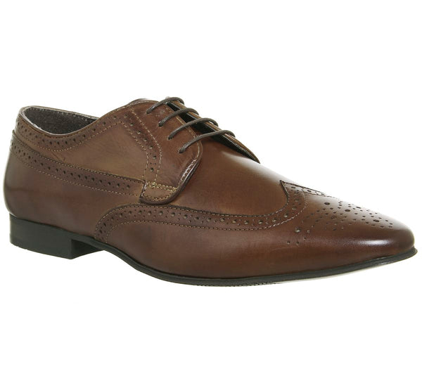 Mens Office Hardwork Brogues Brown Leather