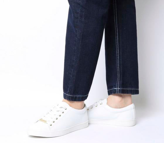 Womens Office Florence Lace Up White With Branding