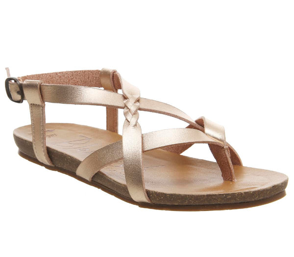 Womens Blowfish Granola B Sandal Rose Gold Dye Cut