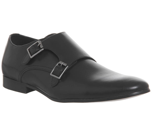 Mens Office Fox Monk Shoe Black