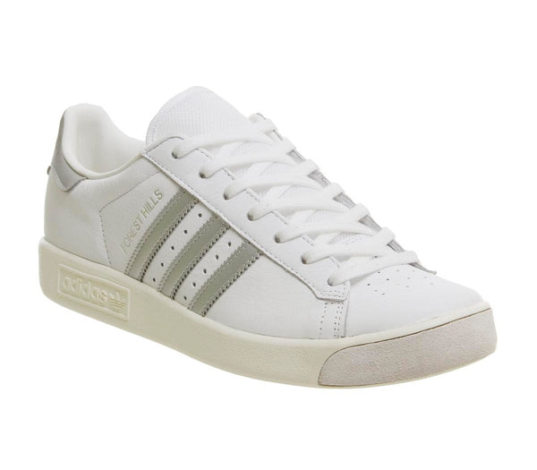 Mens Adidas Forest Hills White Silver Metallic Off White
