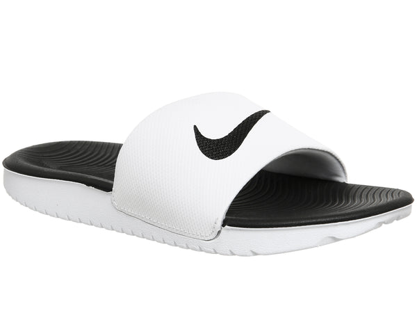 Kids Nike Kawa Kids Slide White Black