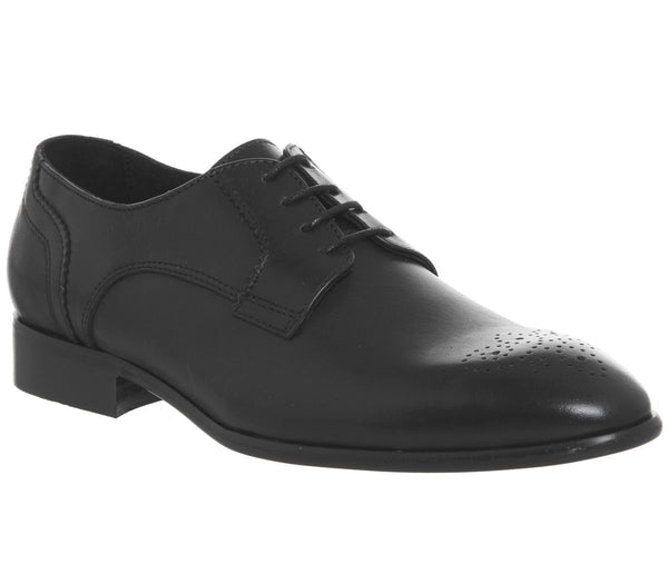Mens Ask the Missus Hound Rose Brogue Black Leather