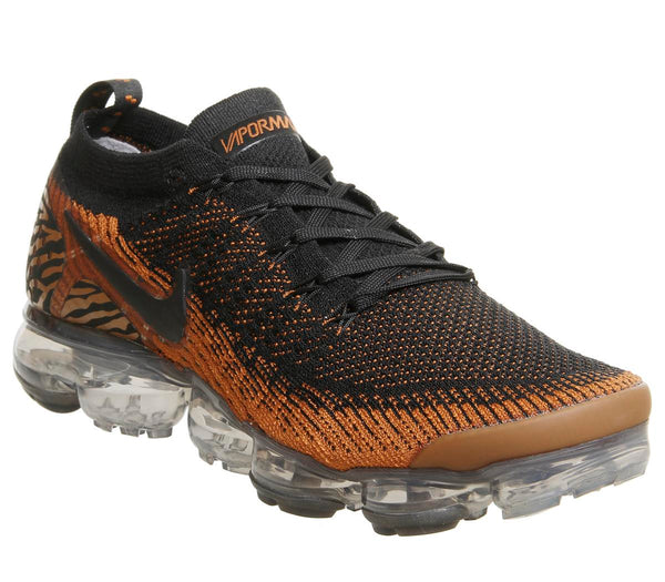 Mens Nike Air Vapormax Flyknit 2 Safari Tiger Club Gold Black Golden Beige Total Or