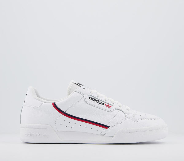 Mens Adidas Continental 80 S White White Scarlet Navy Uk Size 8