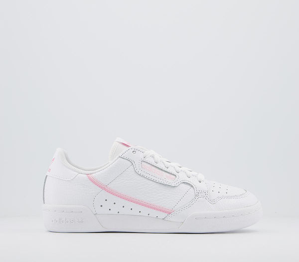Odd sizes - Womens Adidas Continental 80 S White White True Pink Sizes R5.5/L5