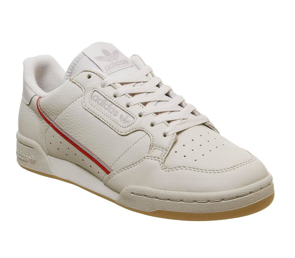 Mens Adidas Continental 80 S Clear Brown Scarlet Ecru Tint