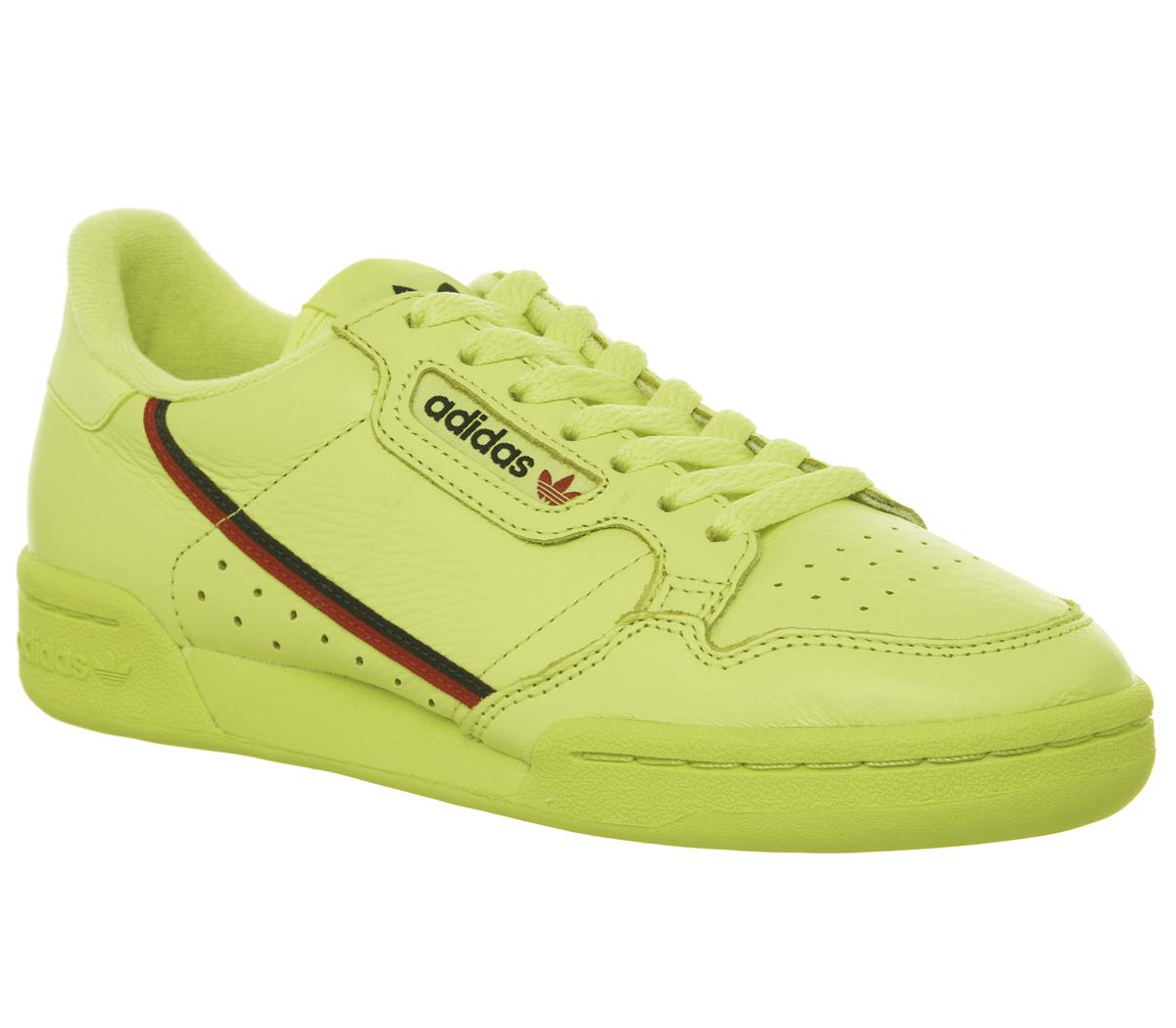 Mens Adidas Continental 80 S Semi Frozen Yellow Scarlet Collegiate Navy