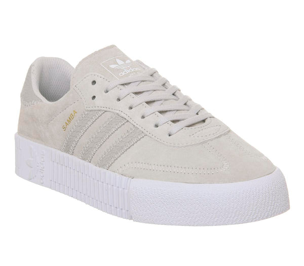 Womens Adidas Samba Rose Grey One White Uk Size 5