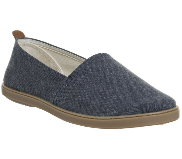 Mens Office Hanoi Espadrille Navy Washed Canvas Uk Size 8