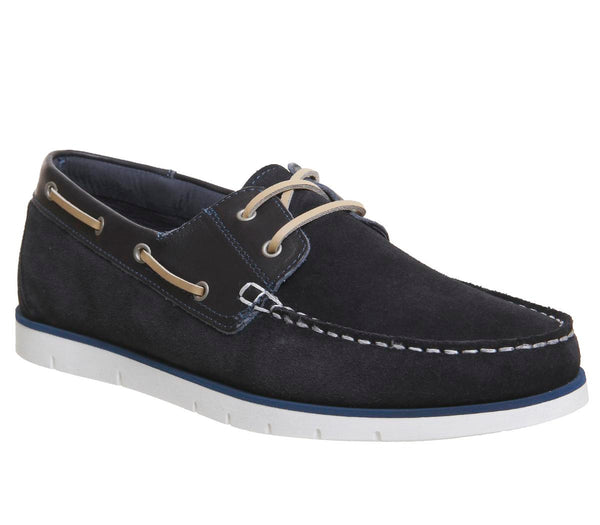 Mens Office Harbour Boat Shoe Navy Suede Uk Size 11