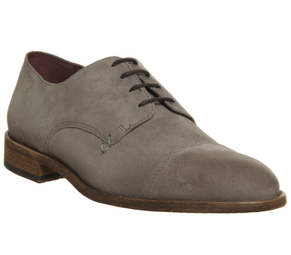 Mens Poste Habitus Derby Shoes Stone Suede