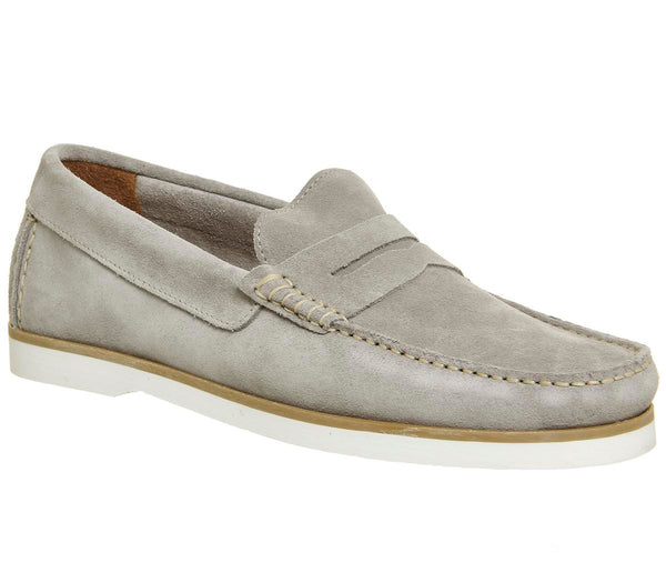 Mens Office Herbert Penny Loafer Grey Suede Uk Size 10