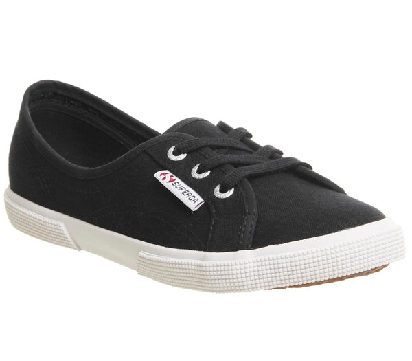 Womens Superga 2211 Black White Uk Size 5.5